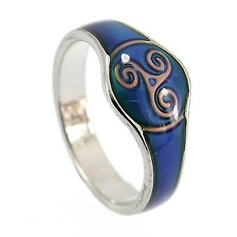 Vetro smaltato Triskele celtico colore cambia umore abito anello