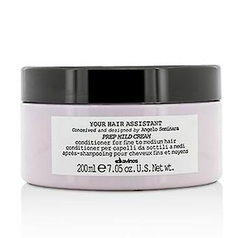 Davines uw Hair Assistant prep milde crème Conditioner (voor fijn tot medium haar)-200ml/7.05 Oz