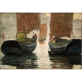 Winslow Homer - An Afterglow Poster Print Giclee