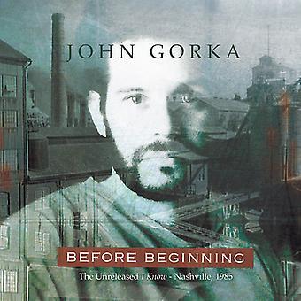 John Gorka - Before Beginning [CD] USA import