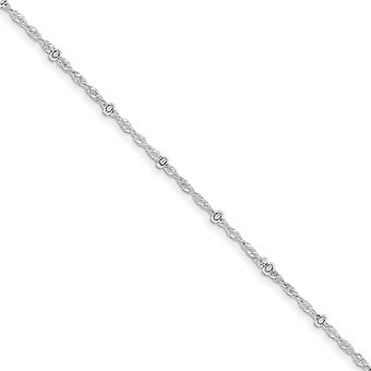 925 Sterling Silver Spring Ring 2.50mm Fancy Anklet Jewelry Gifts for Women - Length: 9 to 10