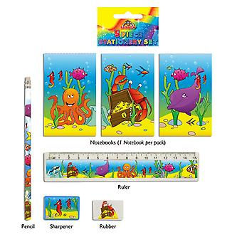 24 Sealife 5-tlg Briefpapiersets