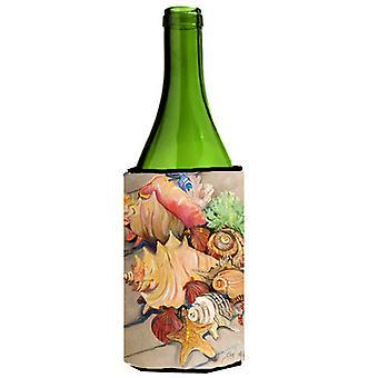 Carolines Treasures  JMK1188LITERK Shells Wine Bottle Beverage Insulator Hugger