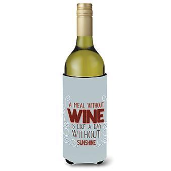 Una comida sin vino botella vino Beverge aislador Hugger
