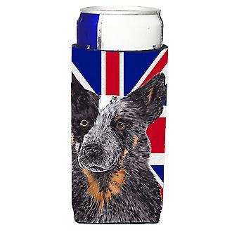 Australian Cattle Dog mit englischen Union Jack britische Flagge Ultra Getränke Insula