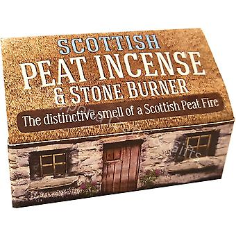 Scottish Peat Incense & Stone Burner by The Turf Peat Incense Company