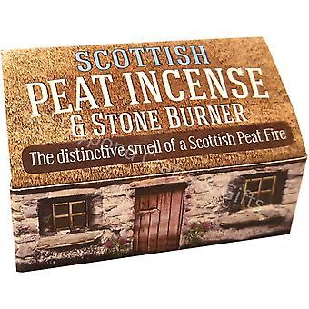 Skotske torv røkelse & stein brenner