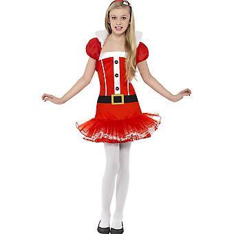 Kinder Kostüme Weihnachten Kleid für Mädchen mit bolero