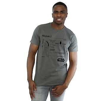 Star Wars Men's Slave 1 Blueprint T-Shirt
