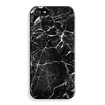 iPhone 5 / 5 sek / SE Full Print saken (glanset) - svart marmor 2