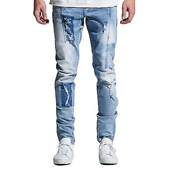 Embellish Paul Denim Jeans Light Blue Patch
