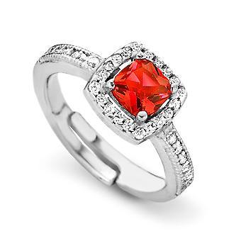 Orphelia Silver 925 Ring prinses zirkonium Red ZR-7199/RE