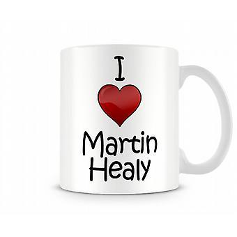 Ik hou van Martin Healy bedrukte mok