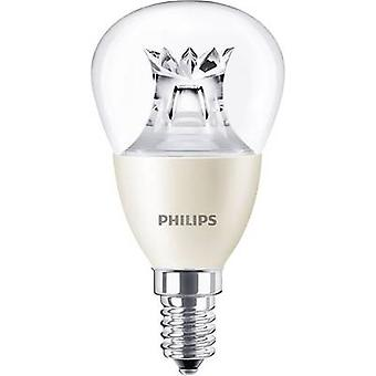 Philips Lighting LED EEC A+ (A++ - E) E14 Droplet 6 W = 40 W Warm white (Ø x L) 48 mm x 95 mm dimmable (Warm Glow) 1 pc(s)