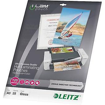 Leitz laminaatti arkki a3 125 mikronin kiiltävä 25 PC (s)