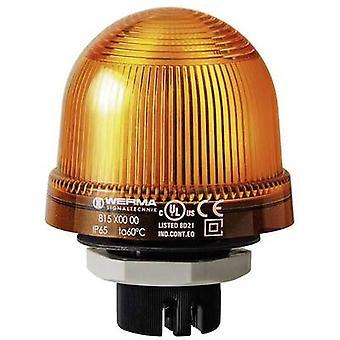 Werma Signaltechnik Luz 815.300.00 815.300.00 Señal amarilla de luz sin parar 12 V AC, 12 V DC, 24 V AC, 24 V DC, 48 V AC, 48 V DC, 110 V AC, 230 V AC