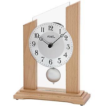 Tabellen klokke tabellen klokke kvarts med pendelen mineralglass solid tre bøk
