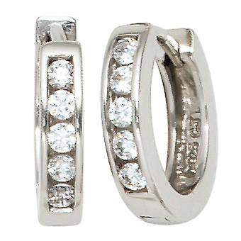 Hoops around 925 Silver 10 cubic zirconia earrings Silver earrings kitchen