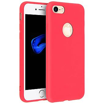 Forcell case for Apple iPhone 7, iPhone 8, soft touch cover, silicone case – Red