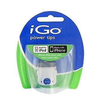 iGo A133 Power Tip voor Apple iPod en iPhones 30-pins kabel (wit)-TP06133-0001