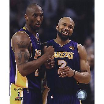 Kobe Bryant & Derek Fisher Game Three of the 2010 NBA Finals Celebration (#8) Sports Photo (8 x 10)