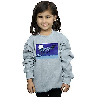 Star Wars Girls Christmas AT-AT Sleigh Sweatshirt