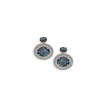 Blue earrings with crystals from Swarovski 517