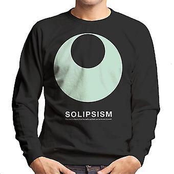 Solipsismus Philosophie Symbol Herren Sweatshirt