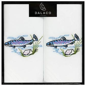 Dalaco Fish Handkerchiefs - White