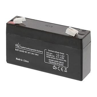 HQ Bat-bly-01 6 V 1,2 Ah bly-syre batteri