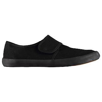 Slazenger Kinder BTS Junior Canvas Schuhe Pumps Slip-On Strap Touch und in der Nähe