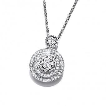 Cavendish French Elegant Silver and Cubic Zirconia Pendant without Chain