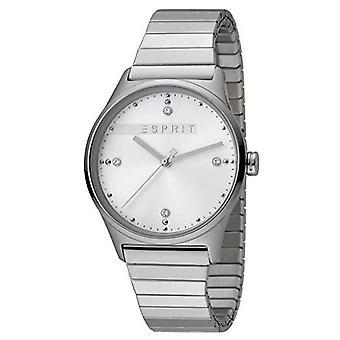 ESPRIT Damen Uhr Womans analogen VinRose weiß Silber Matt Quarz