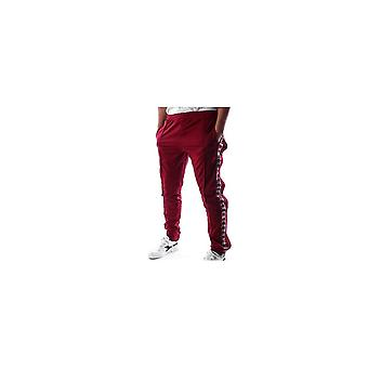 KAPPA Astoria Slim Fit Bordeaux Rød Snap Fest Spor Bukser
