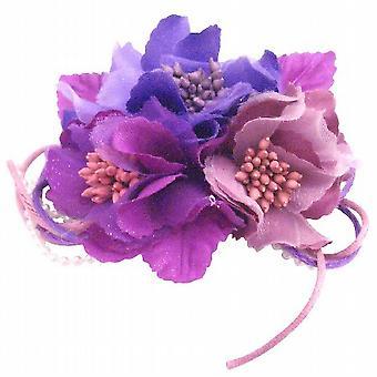 Blüte Haarspange & Brosche Pin Blüte violett Lavendel Pollen Farbe