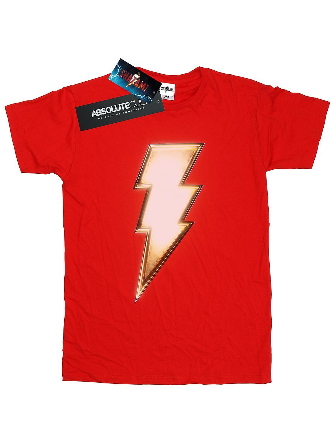 DC Comics Men's Shazam Bolt Logo T-Shirt