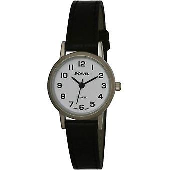 Ravel R 0102.02.2-wristwatches, vrouwelijke, kunststof, kleur: zwart