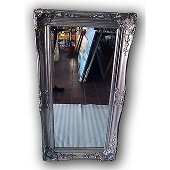 Mirror in silver, outer dimensions 104x54 cm, silver color