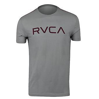 RVCA Mens Big RVCA Mens Vintage Wash T-Shirt - Monument Gray