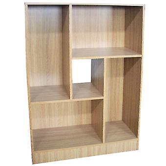 Balance - Geometric Display Cabinet / Cubby Storage Shelves - Oak