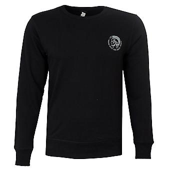 Diesel UMLT Willy Crewneck Long Sleeve Sweatshirt  Black