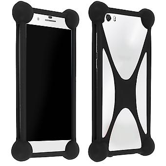 Mocca Universal Silicone Shockproof Case Smartphone Protection Black