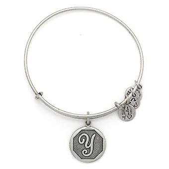 Alex and Ani Initial Y Silver Bangle A13EB14YS