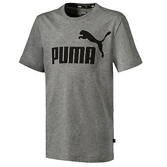 Puma Essentials logo Kids esportes T-shirt tee Grey