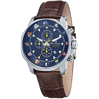 Spinnaker Flaggy Chronograph Watch - Brown/Navy