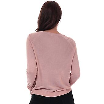 Womens Vero Moda Lina Crew Neck Jumper In Misty Rose