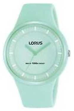 Lorus Ladies Mint Green Silicon Strap Mint Green Dial RRX31FX9 Watch