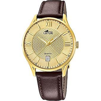 לוטוס-שעון יד-גברים-18403/B-רצועת עור קלאסי