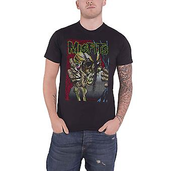 Misfits T Shirt Pushead band logo new Official Mens Black