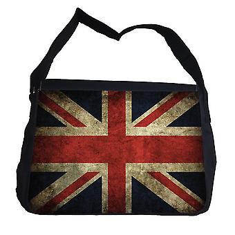 Rustikale ' Union Jack ' Tasche mit Schultergurt Schultertasche